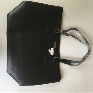 New White House Black Market Black Leather tote